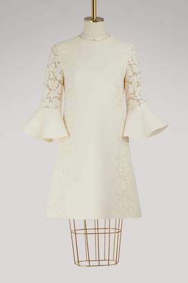 Valentino 3/4-sleeve short dress
