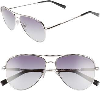 Tiffany & Co. 57mm Aviator Sunglasses