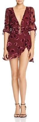 For Love & Lemons Sophie Velvet Floral Dress