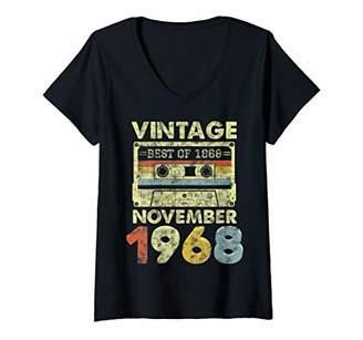 Womens Classic 51st Birthday Gift Men Women Vintage November 1968 V-Neck T-Shirt