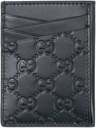 9475570a347 Gucci Genuine Leather Credit Card Case Holder Wallet