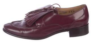 Salvatore Ferragamo Leather Kiltie Oxfords Leather Kiltie Oxfords
