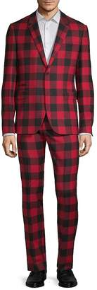 Valentino Men's Gingham Notch Suit