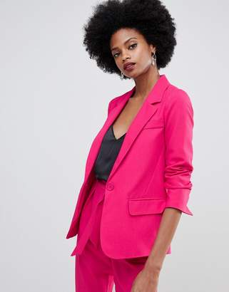 Oasis crepe tailored blazer in pink