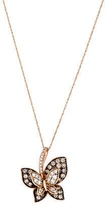 Le Vian 14K Diamond Butterfly Pendant Necklace $795 thestylecure.com
