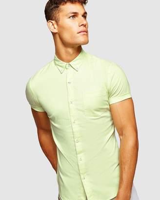 Topman Oxford Short Sleeve Shirt