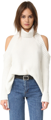 J.O.A. Cold Shoulder Sweater $75 thestylecure.com
