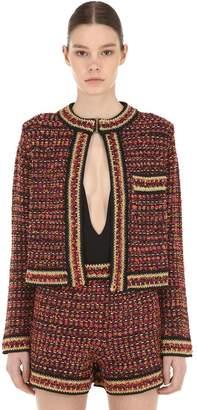 M Missoni Lurex & Tweed Cropped Jacket