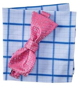BROLETTO Kailas Dot Silk Bow Tie & Pocket Square Set