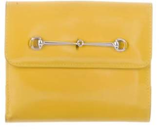 Gucci Bright Bit French Purse Wallet Yellow Bright Bit French Purse Wallet