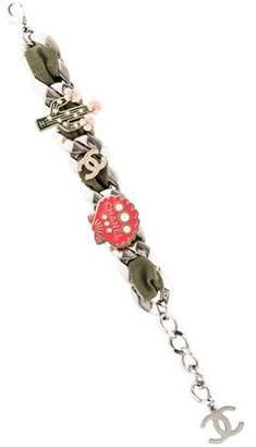 Chanel Embellished Curb Chain Bracelet