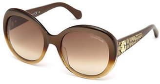 Roberto Cavalli Round Gradient Sunglasses