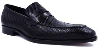 MAISON FORTE San Luce Reptile Embossed Leather Penny Loafer