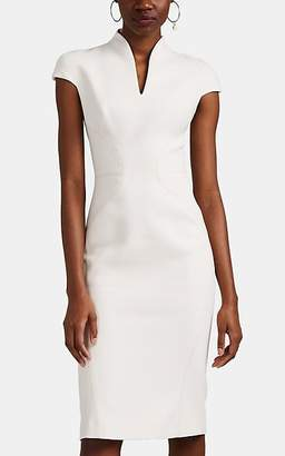 Zac Posen Women's Bonded Crepe Fitted Sheath Dress - Ivory