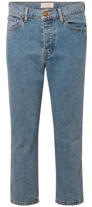 The Great Cropped High-rise Straight-leg Jeans
