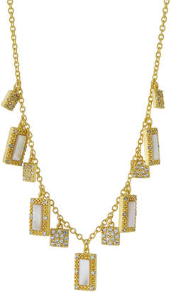 Freida Rothman Textured Mother-of-Pearl Fringe Necklace