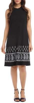 Karen Kane Sleeveless Border-Print Dress