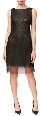 Betsey Johnson Metallic Sheath Party Dress