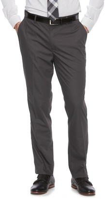 Apt. 9 Big & Tall Silk Touch Extra-Slim Fit Stretch Flat-Front Dress Pants