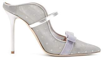 Malone Souliers Marguerite Luwolt Mesh Mules - Womens - Silver