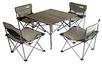 Ore International Portable Children's Camping Table and Chair Set