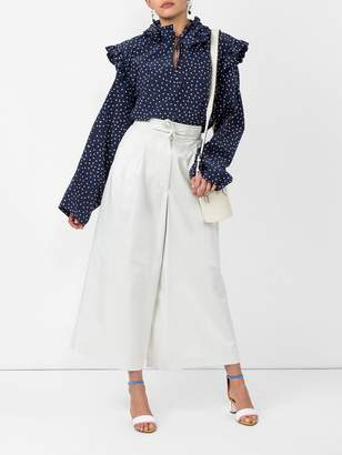Vetements Polka dot biker blouse