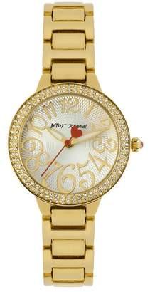 Betsey Johnson Women's Glitz Bracelet Watch, 32mm