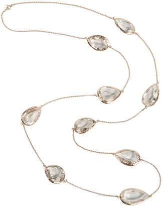 Rosegold Latelita London - 3D Teardrop Necklace Clear Quartz