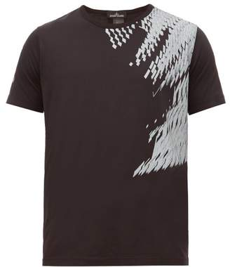 Stone Island Shadow Project - Geometric Print Cotton T Shirt - Mens - Black