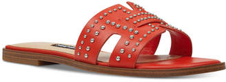 Nine West Genesia Studded Slide Sandals Women Shoes