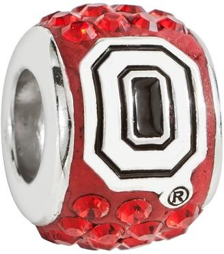 Swarovski Logoart LogoArt Ohio State Buckeyes Sterling Silver Crystal Logo Bead - Made with Crystals