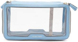Anya Hindmarch Inflight leather-trimmed wash bag