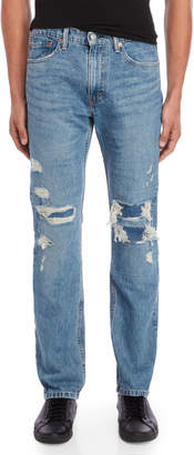Levi's 513 Slim Fit Distressed Jeans
