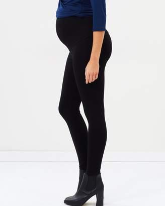 Angel Maternity Maternity Foldable Waistband Tight Leggings