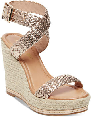Madden-Girl Narla Woven Platform Wedge Sandals