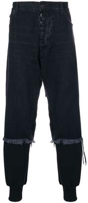 Unravel Project denim layered track pants