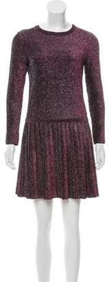 Chanel Pleated Metallic Dress w/ Tags