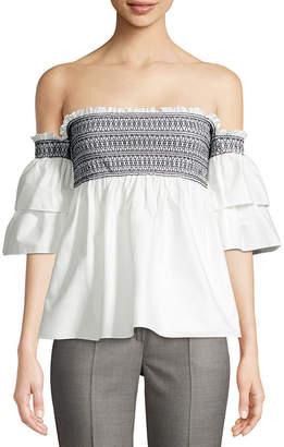 Rachel Zoe Off-The-Shoulder Drape Top