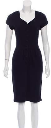 Adrienne Vittadini Knee-Length Button-Up Dress Black Knee-Length Button-Up Dress
