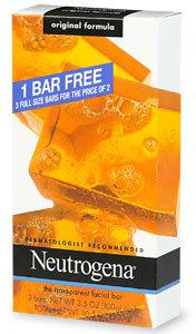 Neutrogena Transparent Facial Bar, 3 pk