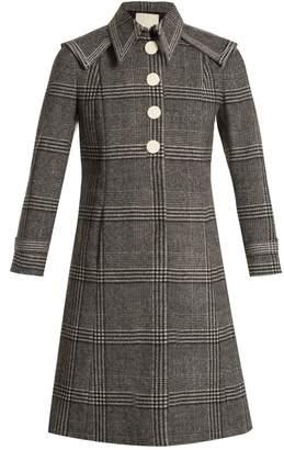 Marco De Vincenzo Checked wool coat