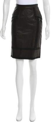 Proenza Schouler Paneled Leather Skirt