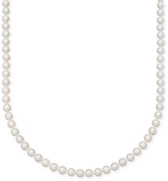 """Belle de Mer Pearl Necklace, 16"""" 14k Gold A+ Cultured Freshwater Pearl Strand (7-1/2-8mm)"""