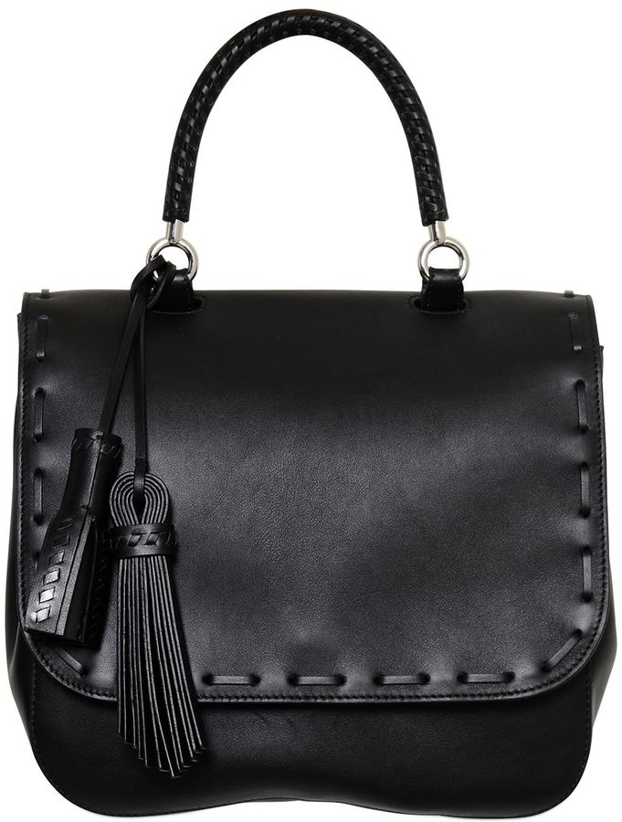 Max MaraBobag Leather Top Handle Bag W/ Tassels