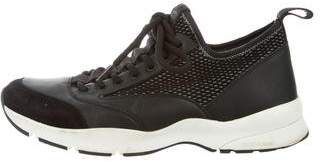 Christian Dior Leather Suede-Trimmed Sneakers