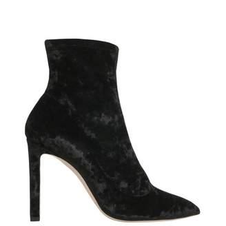 Jimmy Choo Black Velvet Ankle boots