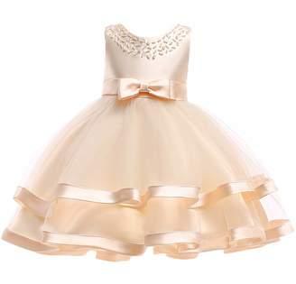 AIgogo Tulle Dresses Flower Girl Elegant Wedding Party Dresses
