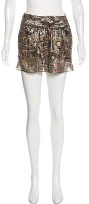 Isabel Marant Printed Metallic Skirt