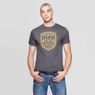 Awake Men's Short Sleeve Crewneck Voyageurs Graphic T-Shirt Gray