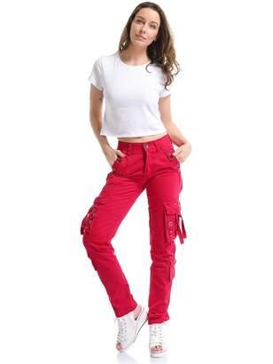 3.1 Phillip Lim Gooket Women's Cotton Casual Straight Leg Active Loose Fit Multi Pockets Cargo Pants Black Tag